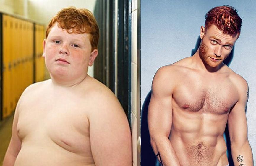 Imagen de mi antes y después de la apuesta.